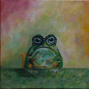 Lineal mit Frosch